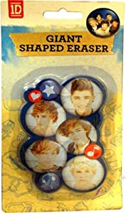 One Direction 1d Crush Shaped Stationery Brand Eraser Set by .