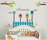 Asmi Collection PVC Wall Stickers Wall Decals Tree branches Birds and Nests