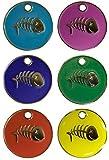 Personalised Engraved 20mm Enamel Pet ID Tag Cat Fish Design