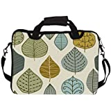 "Snoogg Standing Leaves 14"" 14.5"" 14.6"" Inch Laptop Notebook SlipCase With Shoulder Strap Handle Sleeve Soft Case..."