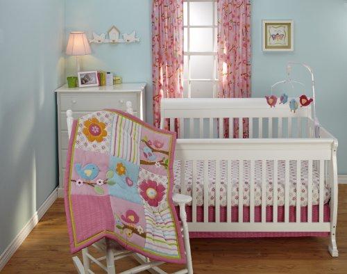 Little Bedding 3 Crib Piece Set, Sweet Lil Birds front-656127