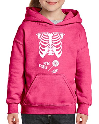 [Artix Kids Hallowen Costume Skeleton with Candies Halloween Fashion Children Gifts Hoodie For Girls - Boys Youth Kids X-Large Azalea] (Hallowen Contact Lenses)