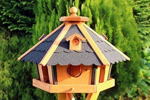 Groes-Vogelhaus-Vogelhuser-Vogelhuschen-Typ-24-Schwarz