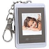 Decrescent Mini Cadre Photo Numérique de 1,5 Monté en Format Porte-clés - Noir