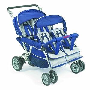 Childrens Four Seat Buggy 4 Seater Pram Quad Pushchair