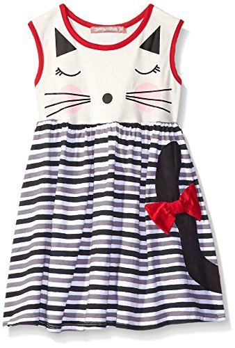 Jelly The Pug Girls' Little Catnap Knit Dress, Multi, 2T