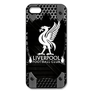 England Premier League Liverpool FC Logo Water Proof iPhone 5/5S Black Plastic Case by customstyle