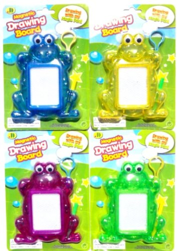 Best Inexpensive Mini Etch Sketch Doodler 4 Pack Unisex Toddler Kids Stocking Stuffer Christmas Gift Idea Colorful Frogs With Stylus Mini Magnetic Drawing Board - Popular Travel Pool & Beach Toy & Gifts Ideas For Kids Best Premium Birthday Party Favors Fo front-700649
