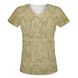 Snoogg Patterns Textures Womens Casual V-Neck All Over Printed T Shirts Tees