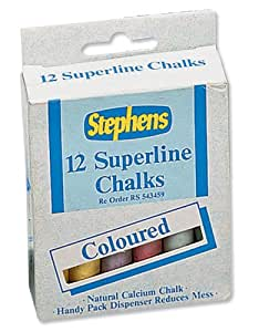 Stephens Superline Chalk Assorted Colours Ref RS543442 [Pack of 12]