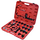 Goplus 27PCS Radiator Pressure Tester Vacuum Type Cooling System Purge and Refill Kit W/ Case