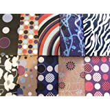 20 SHEETS OF ABSTRACT - CONTEMPORARY WRAPPING PAPER (2 PACKS OF 10)