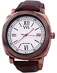 Watch Me Black Genuine Leather Analogue Watch For Men WMAL-073-B