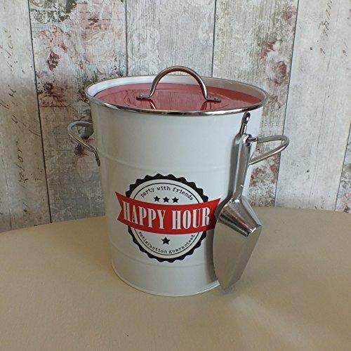 Happy Hour Seau à Glace avec Pelle Blanc et Rouge