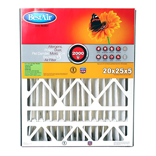 BestAir AB2025-11R Trion Air Bear Pleated Filter 20x25x5 (Furnace Air Filter 20x25x5 compare prices)