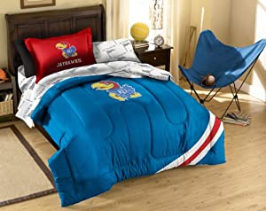 NCAA Kansas Jayhawks Twin Bed in a Bag with Applique Comforter by Northwest
