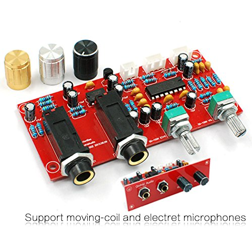 Generic DIY KIT : PT2399 NE5532 Karaoke Board Microphone Amplifier Board Preamplifier Reverberation Plate With...