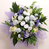 Baby Blooms Hand Tied Bouquet - 0-4 Months Blue