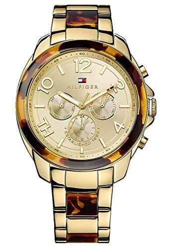 Tommy Hilfiger Damen-Armbanduhr SERENA Multi Rosegold/White Analog Quarz (One Size, gold)