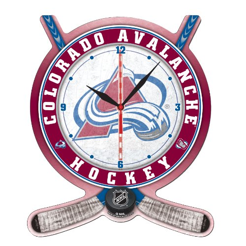 NHL Colorado Avalanche Hockey Stick and Puck High Definition Clock