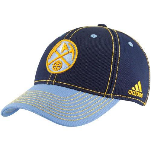 Denver Nuggets Powder Blue-Gold Tactel Structured Flex Hat