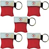 CPR Mask Key Chain Kit (5-pack) - One-way Valve and Face Mask
