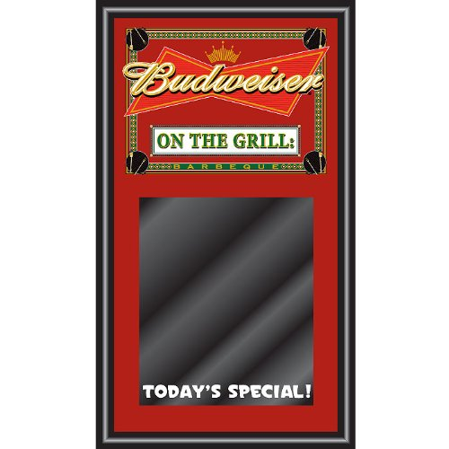 Budweiser BBQ Write On Menu Board - On The Grill