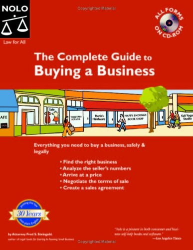 The Complete Guide to Buying a Business (Book with CD-Rom)