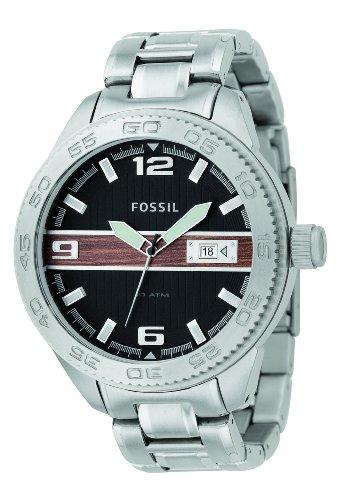 FOSSIL (フォッシル) 腕時計 BLUE ブラック/ウッド AM4218 メンズ ケース幅:50mm [正規輸入品]