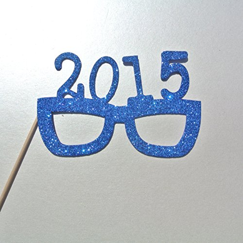 2015 Glasses BLUE PHOTO BOOTH Props Glasses on a Stick New Years Celebration Purple