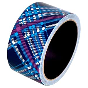 """Plaid Blue Duct Tape 1.88"""" x 10 yds 1 roll"""
