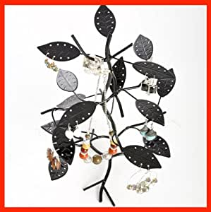 New Unique Tree Leaf Earring Display Stand Black