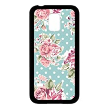buy Romantic Pink Roses Black Stylish Cover Case & Dust Plug For Samsung Galaxy S5 Mini With High-Quality Plastic