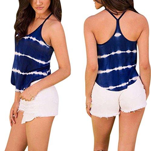 Lisingtool Women's Summer Vest Sleeveless Shirt Blouse Casual Tank Tops