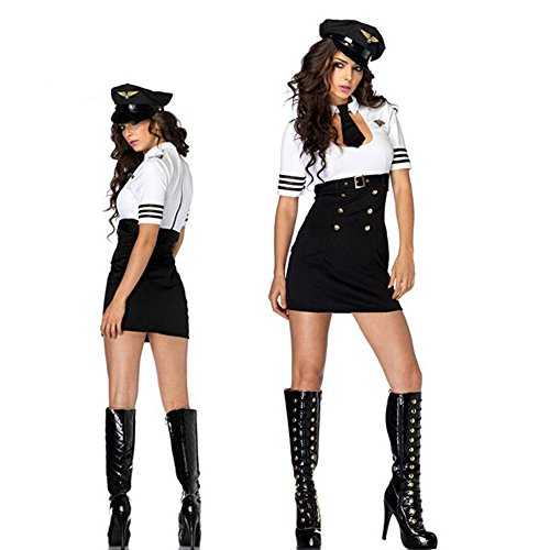 TAILUN Women's Sexy Police Adult Costume make up uniform dress
