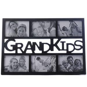 Black Grandkids Multi Image Photo Frame Cut Out Picure