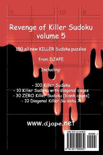 Revenge of Killer Sudoku 5: 150 puzzles