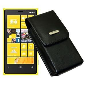 Koechertasche Etui fuer / Nokia Lumia 720 / Ledertasche Vertikaltasche mit einer Guertelschlaufe auf der Rueckseite