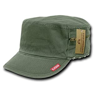 Rapiddominance French Round Bill Cap, Olive, Medium/11