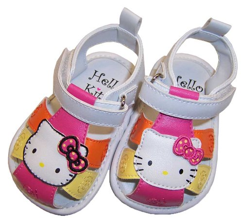 Infant Toddler White Hello Kitty Sandels - 6-9 Months