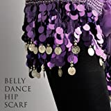 BellyRose Multi-Row Paillettes Gold Coins Belly Dance Wrap & Hip Scarf, Lively Styleby BellyRose