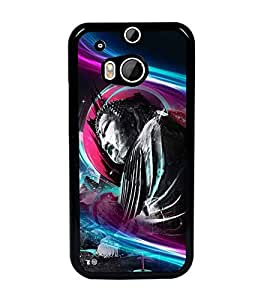 PrintDhaba Lord Buddha D-3368 Back Case Cover for HTC ONE M8s (Multi-Coloured)