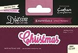 Crafter's Companion Die'sire Essentials Sólo Palabras Muere - Navidad