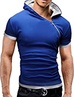 MERISH Kurzarm Hoodie Reißverschluss Shirt Sleeve Trainingsshirt 70