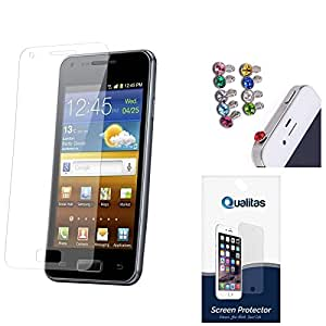 Qualitas Pack of 3 Matte Screen Protector for Lenovo A6000+ + 3.5mm Jewel Dust Jack