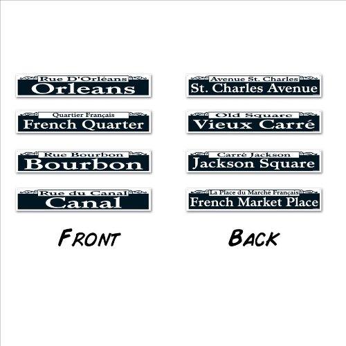 Mardi Gras Street Sign Cutouts   (4/Pkg)