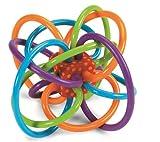 Charming Crew ベビー トレーニング玩具 オーボール 選べる2色 おしゃぶり 歯固め ボール レインボー 赤ちゃん 0歳から遊べる知育玩具 カラフル 投げる 転がす かじる (レッド&ドット)