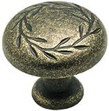Amerock BP1581R2 Inspirations Leaf Knob, Weathered Brass, 1-1/4-Inch Diameter