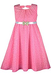 PEACHES PINK LACE DRESS