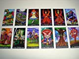 Wonderland Tarot Cards - 22 Card Major Arcana Deck (With Handmade Tarot bag)